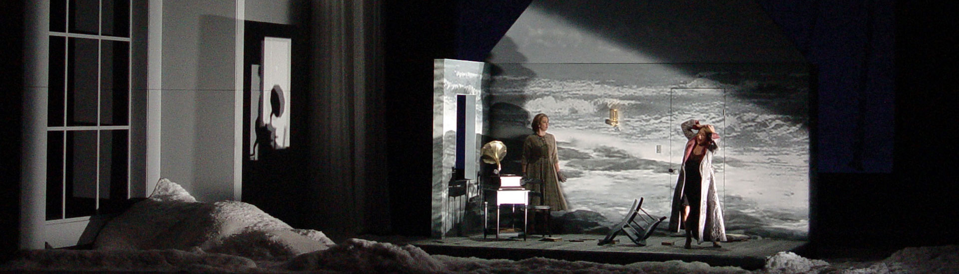 Double Bill &#8211; Glimmerglass Festival:<br>A Blizzard on Marblehead Neck<br>&#038; Later the Same Evening <br>Scenic Design by Erhard Rom